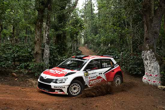 Gaurav Gill won his sixth event in a row, taking a dominant India Rally victory.